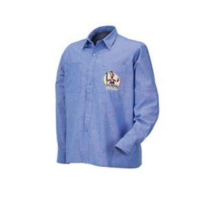 Camicia manica lunga 100% cotone